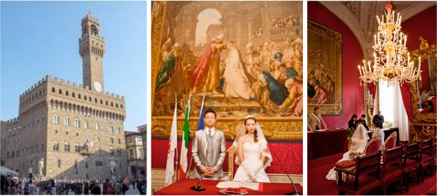 ヴェッキオ宮殿 フィレンツェ市庁舎で挙げるリーガルウェディング