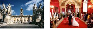 カンピドーリオ宮殿 ローマ市庁舎のSala Rossa 赤の広間での挙式プラン