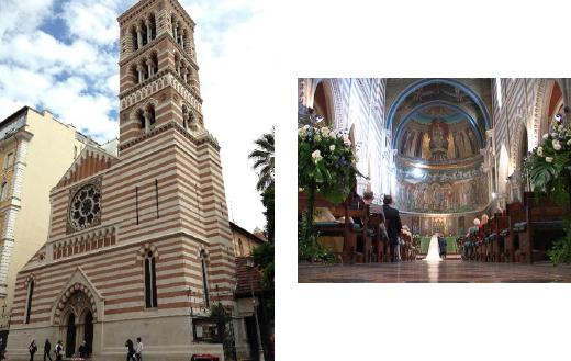 ローマ旧市街の聖パオロ教会でのウェディング