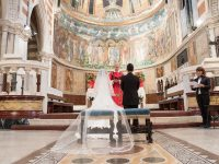 ローマのモザイク画の美しい教会挙式&古代ローマ遺跡とブライダル撮影!